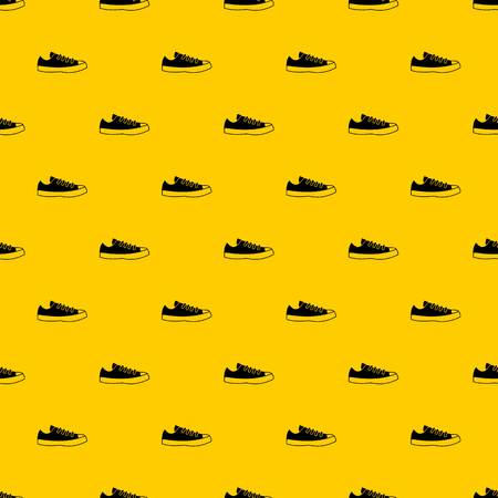 Sneakers pattern seamless vector repeat geometric yellow for any design