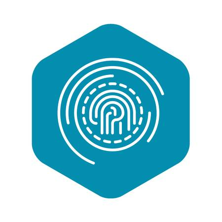 Fingerprint security icon, outline style Illustration