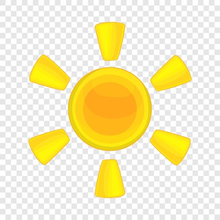 Sun icon. Cartoon illustration of sun vector icon for web design