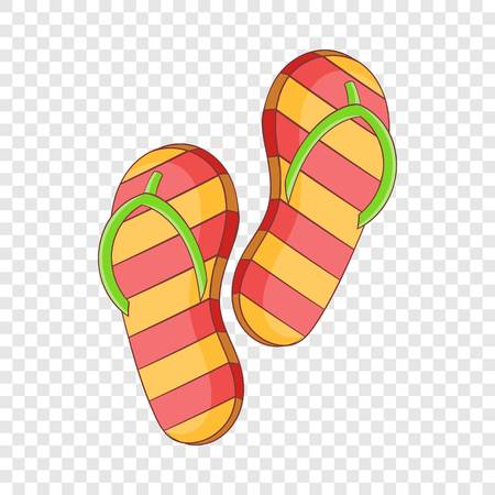 Slippers icon. Cartoon illustration of slippers vector icon for web design