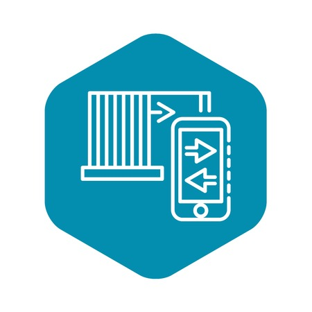 Smartphone control icon, outline style
