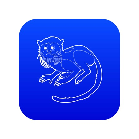Imperial tamarin icon blue vector