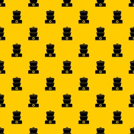 Steamer pattern seamless vector repeat geometric yellow for any design