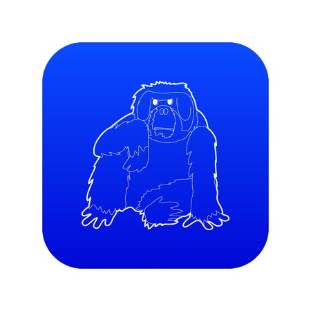 Orangutan icon blue vector isolated on white background Banque d'images - 130242019