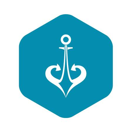 Anchor icon in simple style isolated vector illustration