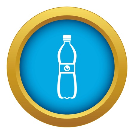 Bottle of water icon blue vector isolated on white background for any design