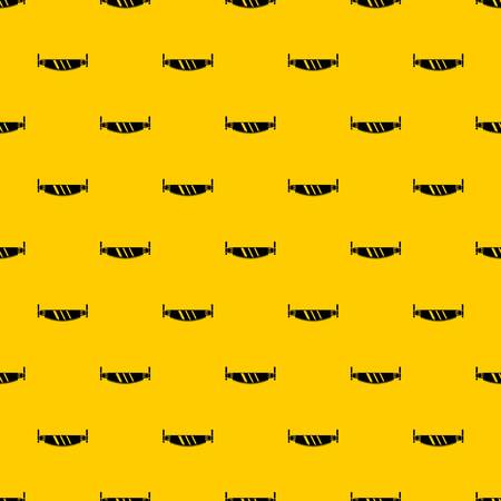 Two handled saw pattern seamless vector repeat geometric yellow for any design