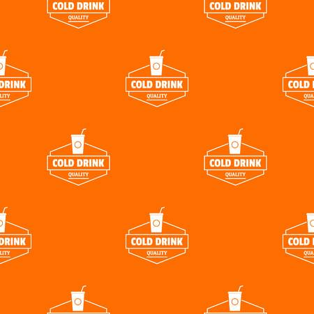 Cold drink pattern vector orange