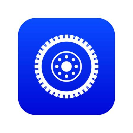 Gear wheel icon digital blue for any design isolated on white vector illustration