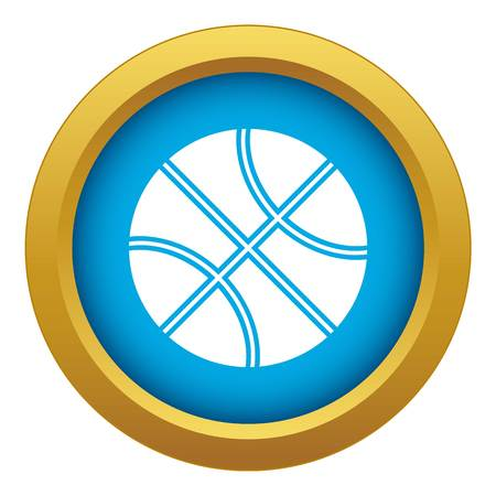 Basketball ball icon blue vector isolated on white background for any design