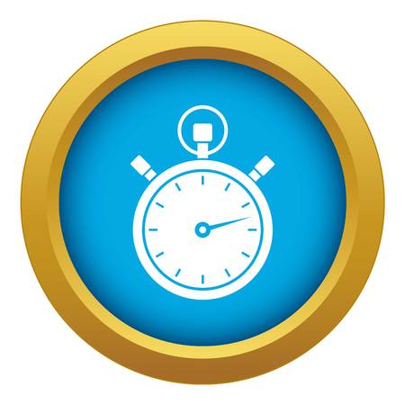 Stopwatch icon blue vector isolated on white background for any design Banque d'images - 130242110