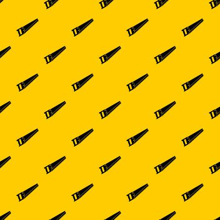 Saw pattern seamless vector repeat geometric yellow for any design Illustration
