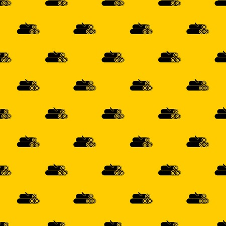 Wooden logs pattern seamless vector repeat geometric yellow for any design Vektorové ilustrace