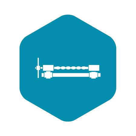 Blacksmiths clamp icon in simple style isolated vector illustration Vettoriali