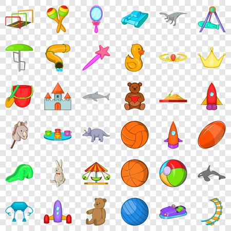 Carousel icons set. Cartoon style of 36 carousel vector icons for web for any design Stock Vector - 124004595