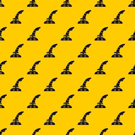 Joystick pattern seamless vector repeat geometric yellow for any design