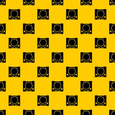 PlayStation pattern seamless vector repeat geometric yellow for any design