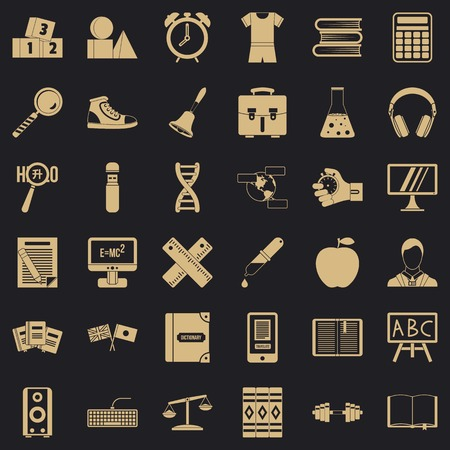 Abc icons set. Simple style of 36 abc vector icons for web for any design