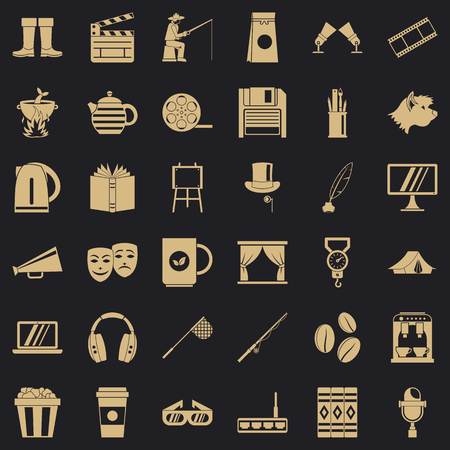 Culture icons set. Simple style of 36 culture vector icons for web for any design