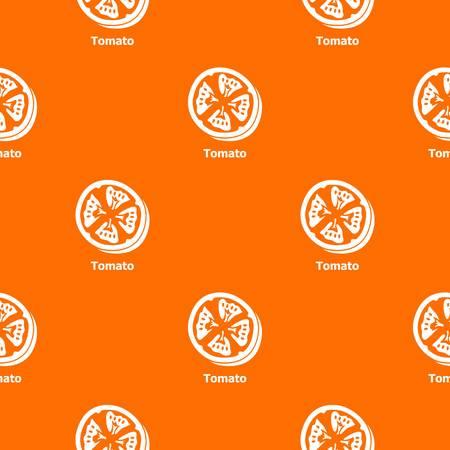 Tomato pattern vector orange for any web design best