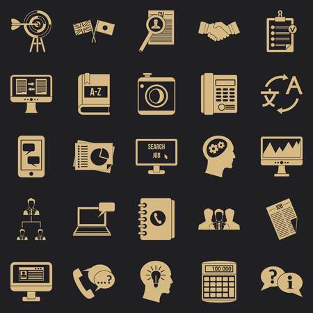 Polemic icons set. Simple set of 25 polemic vector icons for web for any design