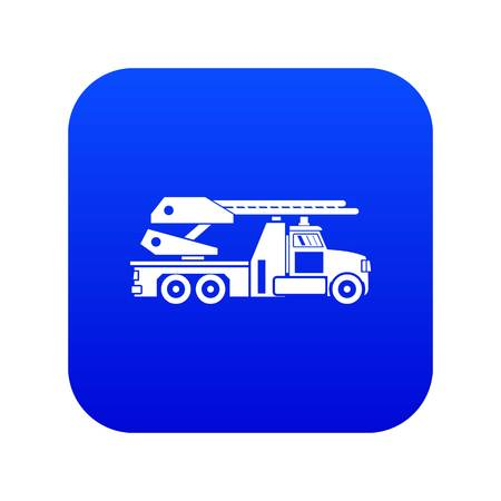 Fire engine icon digital blue for any design isolated on white vector illustration Banque d'images - 130242329