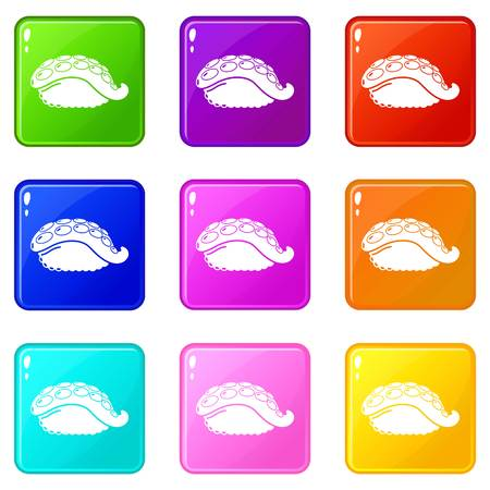 Sushi octopus icon. Simple illustration of sushi octopus vector icon for web  イラスト・ベクター素材