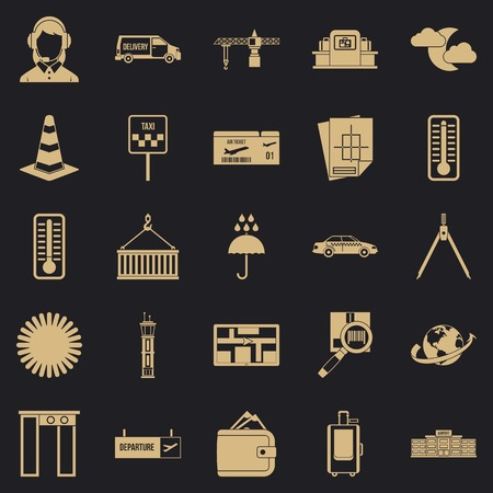 Dispatcher icons set. Simple set of 25 dispatcher vector icons for web for any design