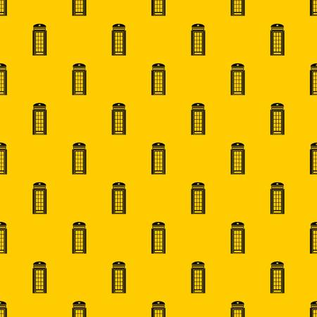 Phone booth pattern seamless vector repeat geometric yellow for any design