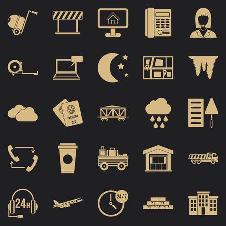 Director icons set, simple style Vectores
