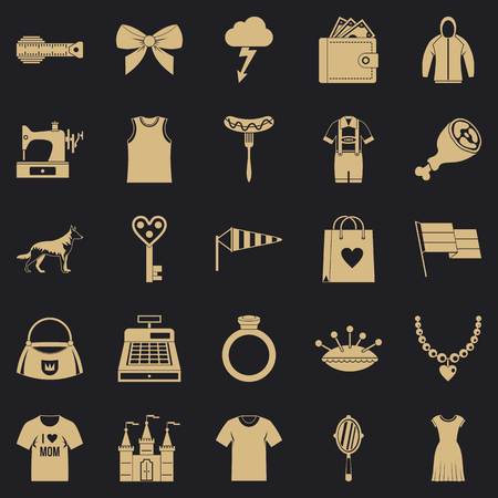 Mannerism icons set. Simple set of 25 mannerism vector icons for web for any design