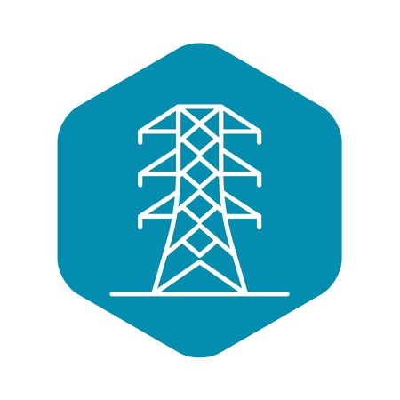Power energy tower icon. Outline power energy tower vector icon for web design isolated on white background