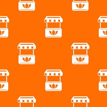 Eco stall pattern vector orange