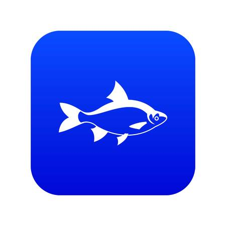 River fish icon digital blue for any design isolated on white vector illustration Иллюстрация