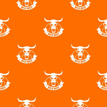 Wild west pattern vector orange Illustration