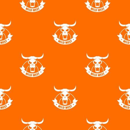 Wild west pattern vector orange Stock Vector - 124048005