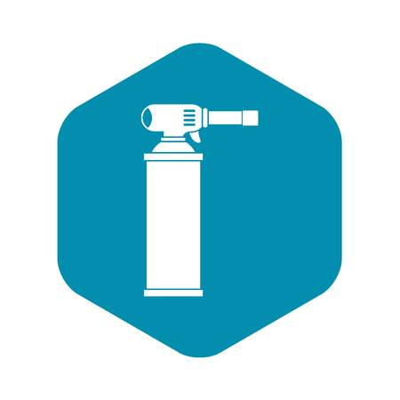 Gas cylinder icon in simple style isolated vector illustration