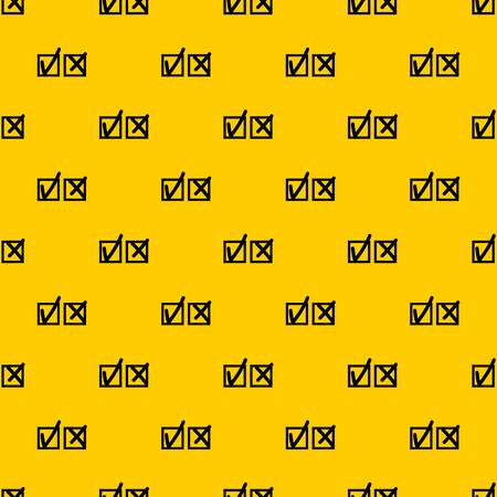 Checkmark to accept and refusal pattern seamless vector repeat geometric yellow for any design Illustration