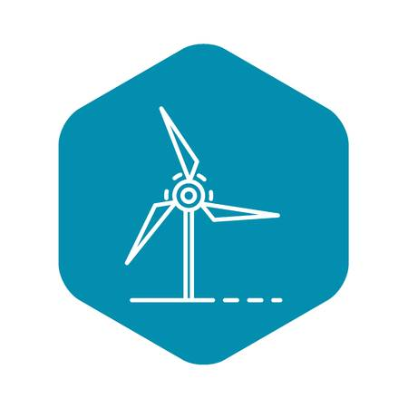 Wind turbine icon, outline style