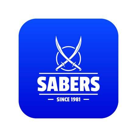 Saber icon blue vector