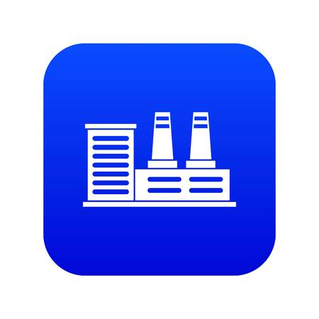 Power plant icon digital blue for any design isolated on white vector illustration