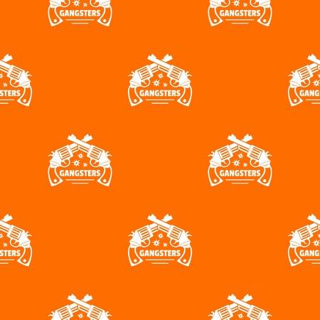 Gangsters pattern vector orange