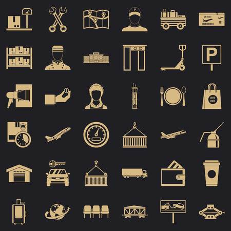 Loader icons set, simple style