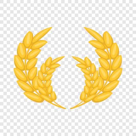 Wheat ears frame icon. Cartoon illustration of wheat ears frame vector icon for web design