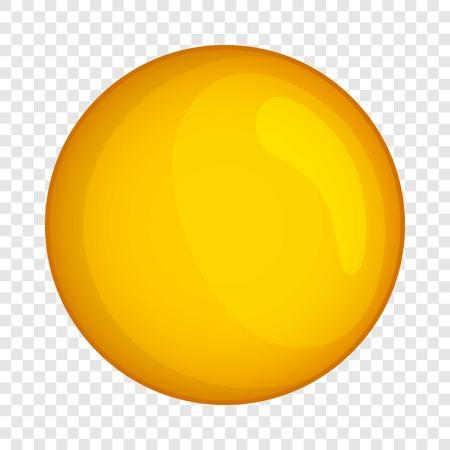 Moon icon. Cartoon illustration of moon vector icon for web design