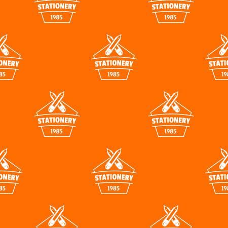 Education stationery pattern vector orange