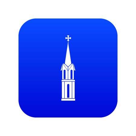 Church icon digital blue Illustration