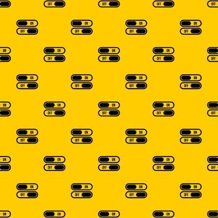 Button on and off pattern seamless vector repeat geometric yellow for any design