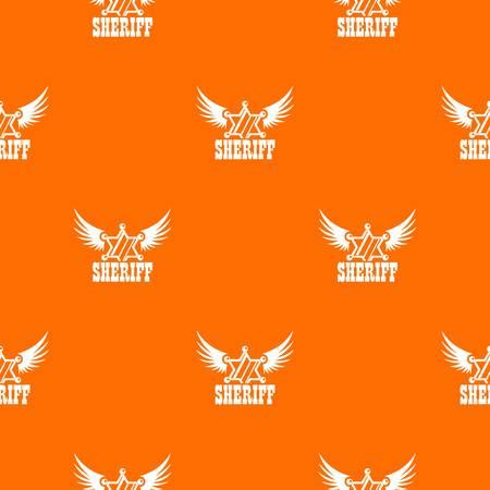 Sheriff pattern vector orange