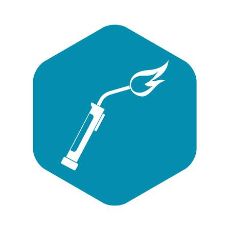 Welding torch icon in simple style isolated vector illustration